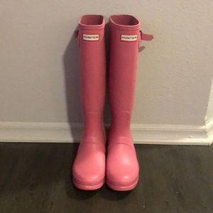 Light Pink Hunter Boots